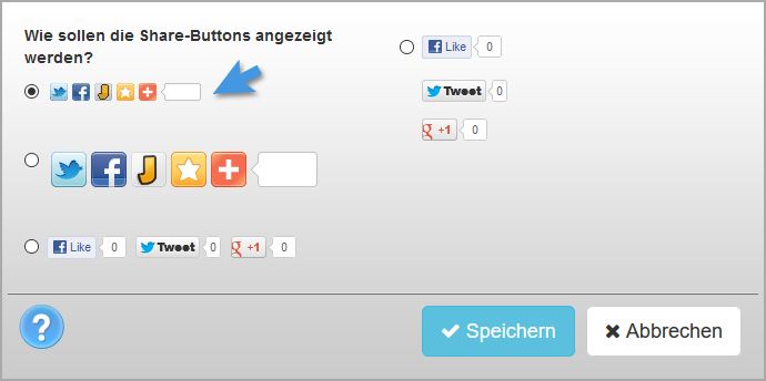 WEBBOX Hilfe | Social Share Button